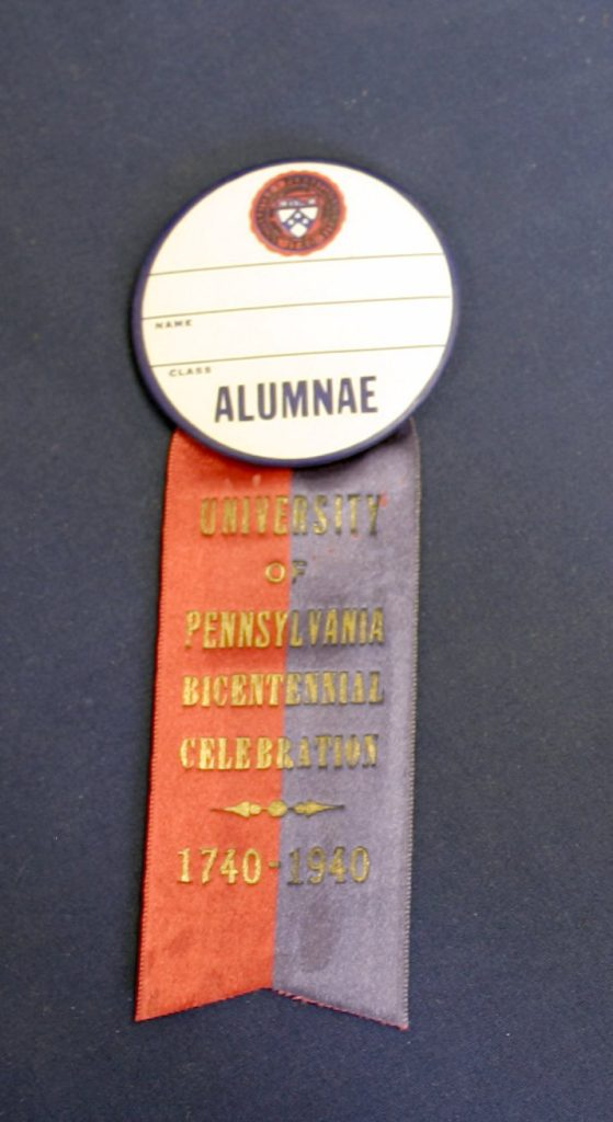 Alumnae pin, bicentennial celebration, 1940