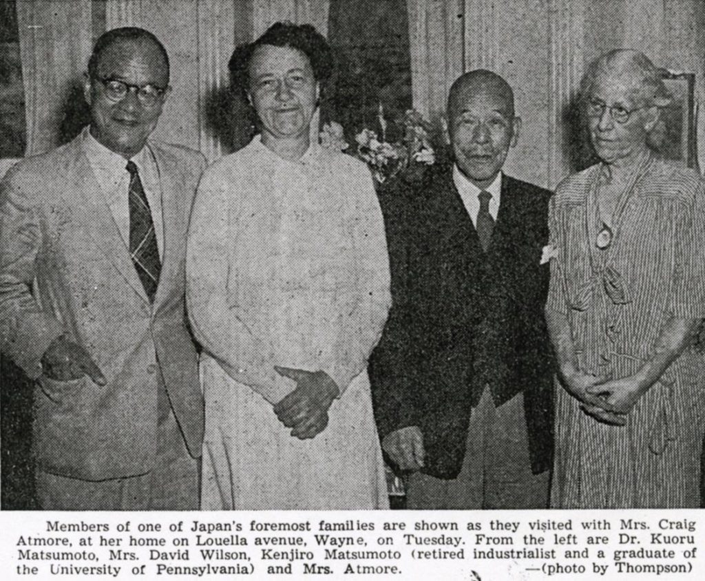 Atmore and Matsumoto families reunite, 1956