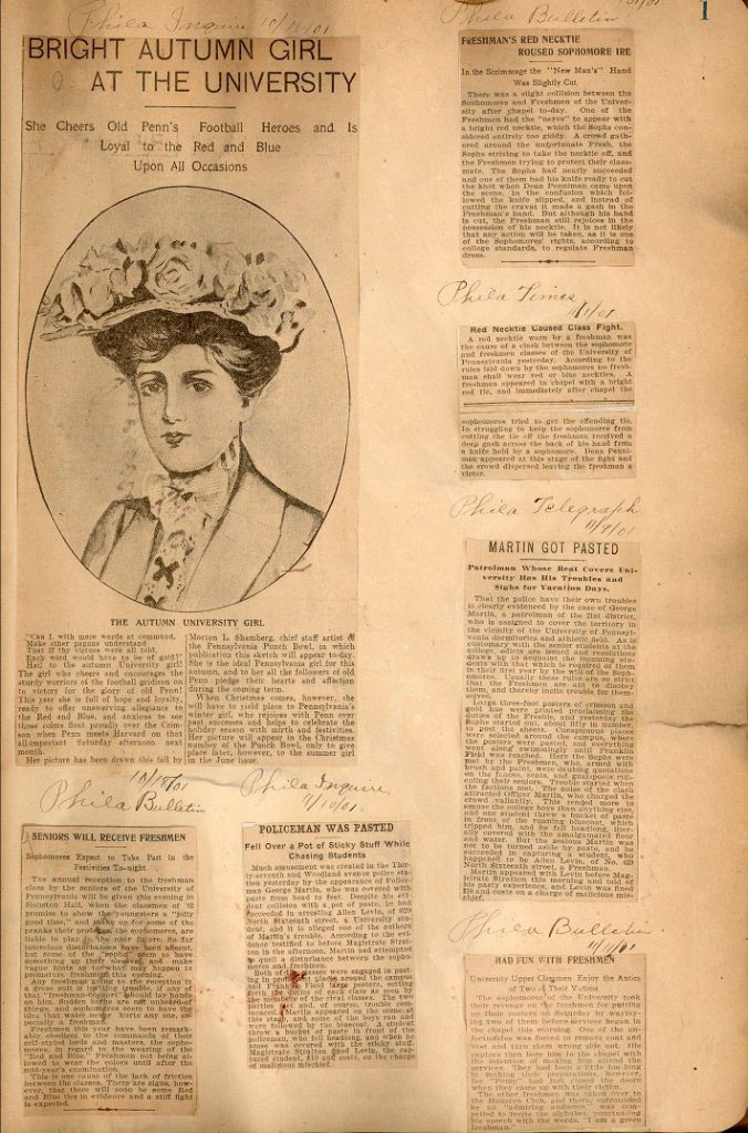Scrapbook, College, October 1901-August 1905