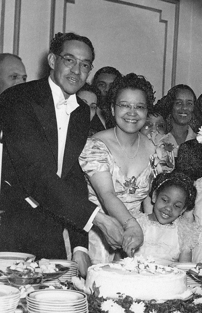 Raymond Pace and Sadie T.M. Alexander, 20th wedding anniversary, 1943