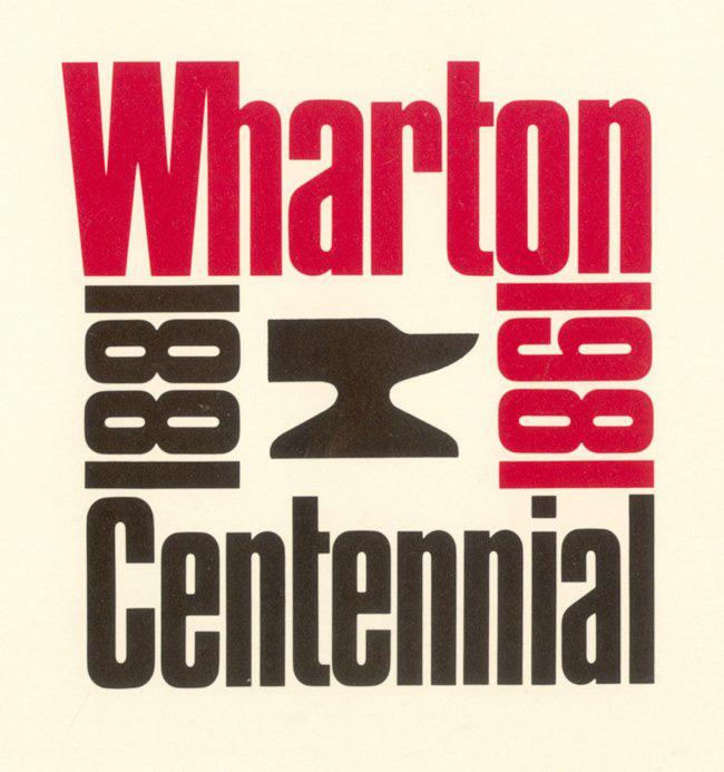 Wharton School Centennial logo, 1981