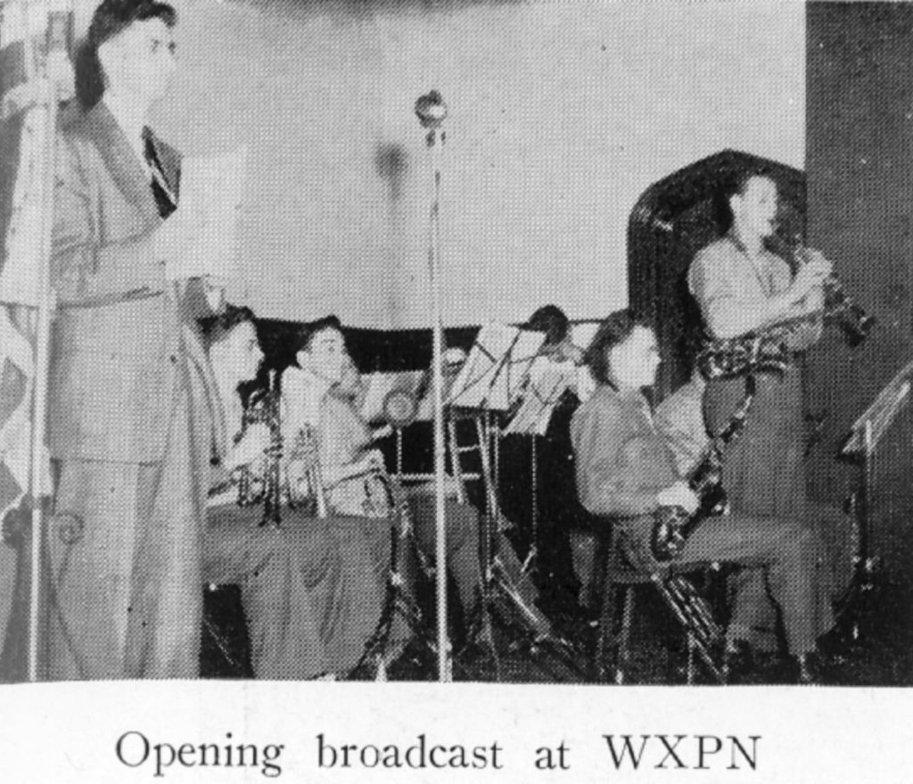 WXPN opening broadcast, 1946
