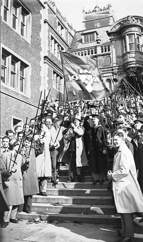 Cane Day procession from Quad to Irvine, 1939