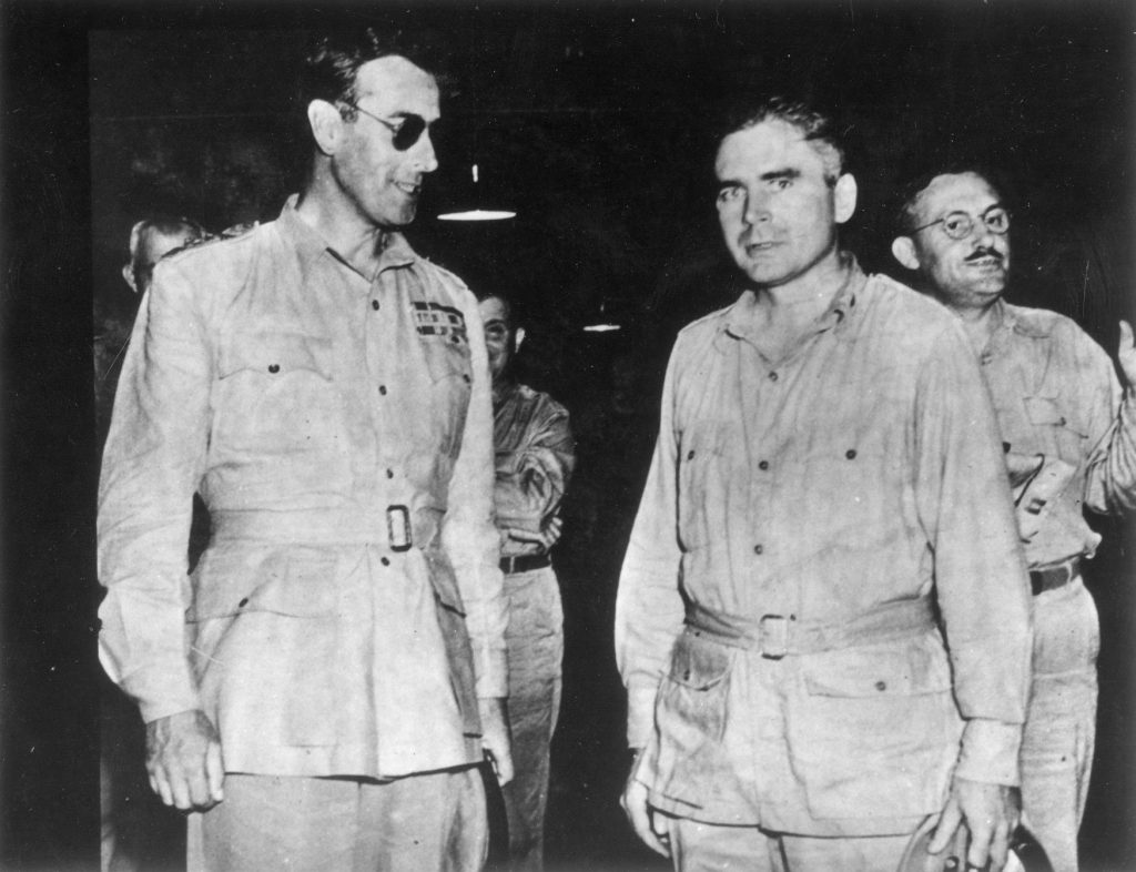 Harold G. Scheie with Lord Louis Mountbatten of Burma, 1944