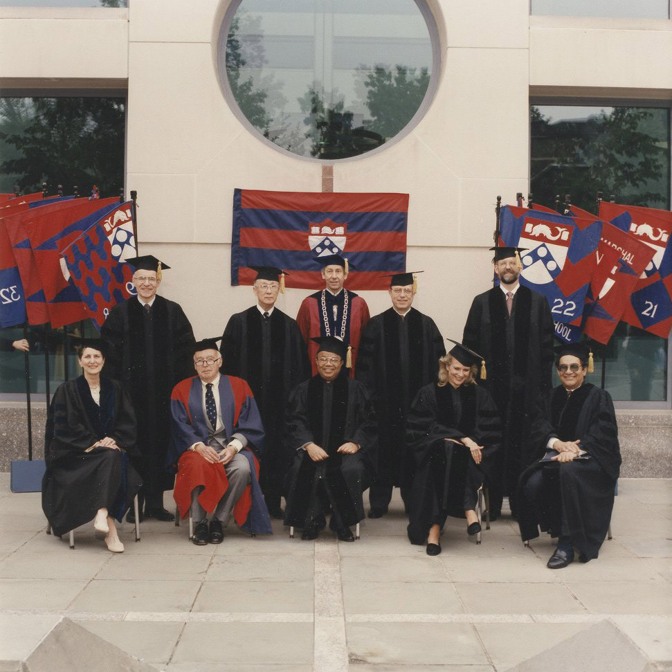 Honorary degree recipients with President Hackney, 1993