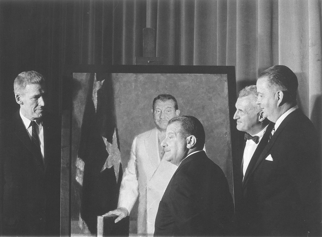 I.S. Ravdin at the unveiling of his portrait, 1958