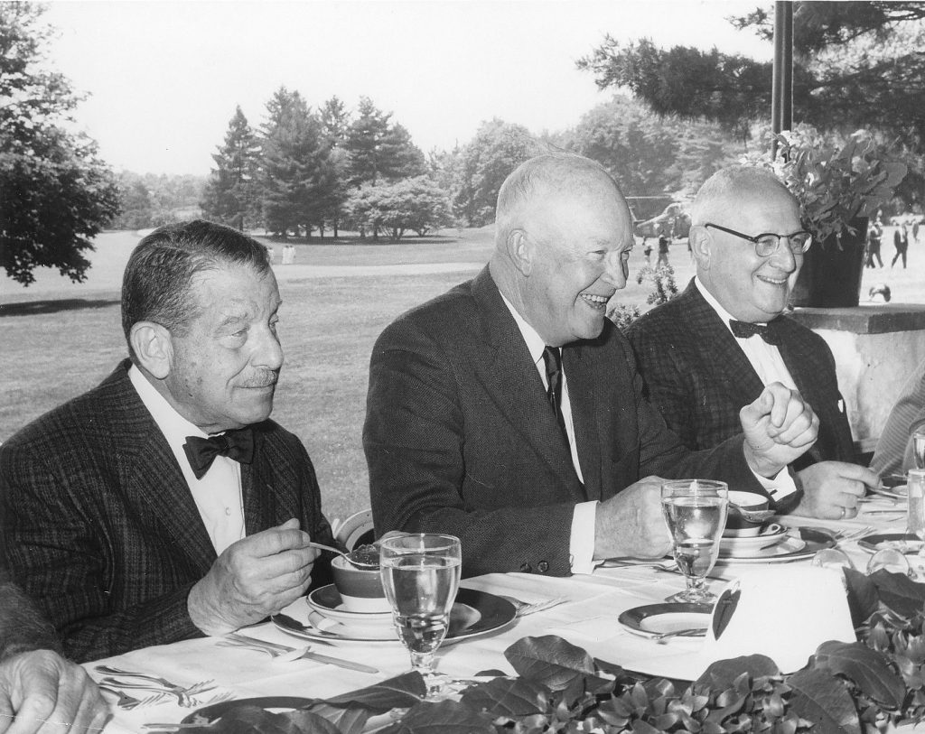 I.S. Ravdin, Dwight D. Eisenhower, and Leon J. Ohermayer, 1964