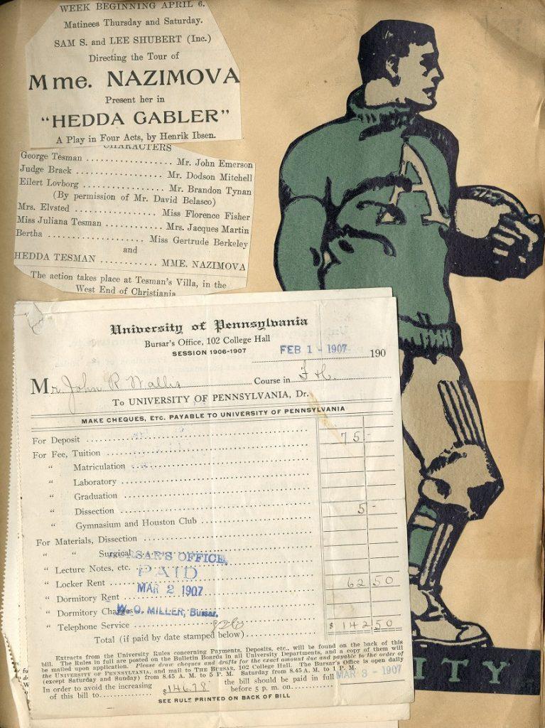 John Rider Wallis scrapbook, c. 1907