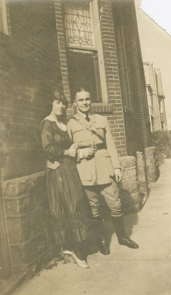 Stewart A. McDowell, most likely with wife, c. 1917