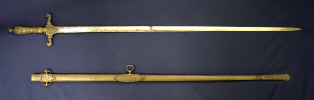 Civil War sword belonging to Thomas Humphries Sherwood, c. 1861
