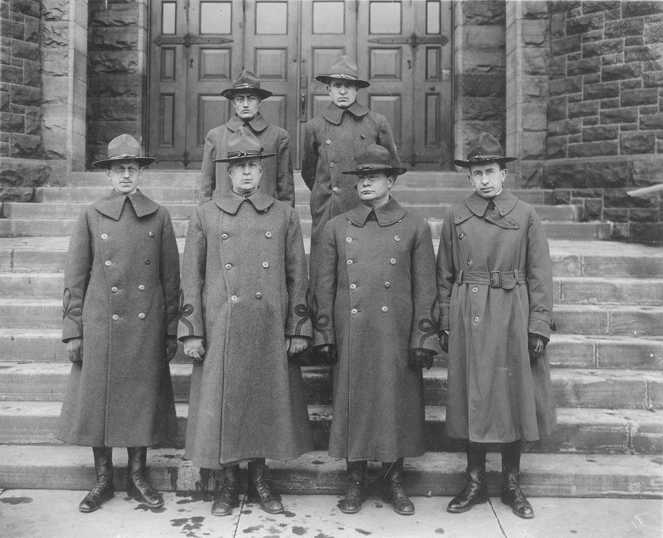 World War I, University medical officers, 1917