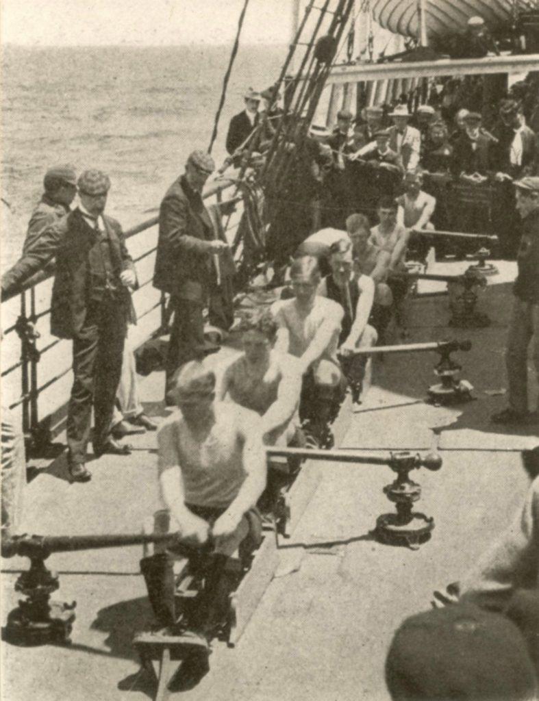 Men's crew, ocean voyage, Henley Regatta, 1901