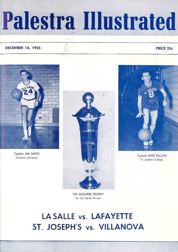 Palestra Illustrated cover on the occasion of the first Big 5 Game, 1955
