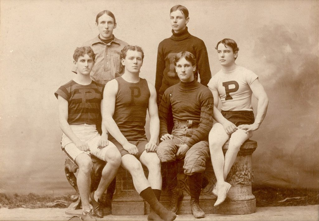 Five varsity sports captains, 1895