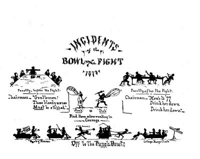 Bowl fight, 1875