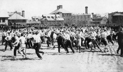 Bowl fight in action, 1895