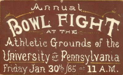 Bowl fight poster, 1885