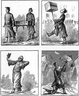 Cremation parade, 1883