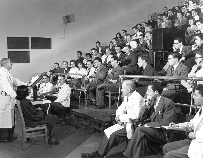 Hospital of the University of Pennsylvania. Interior Lecture Room, c. 1947