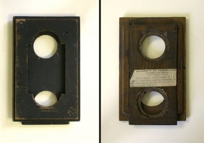 "Lens Board #12, for a 5x8"" view camera, c. 1884"