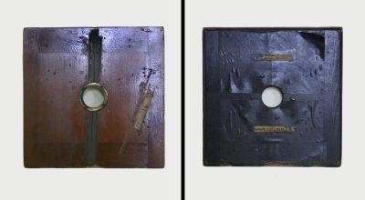 Lens board, Eadweard Muybridge Collection, c. 1884