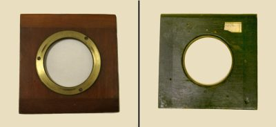 Lens board, with flange, Eadweard Muybridge Collection, c. 1884