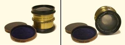 Lens with leather caps, Eadweard Muybridge Collection, c. 1884