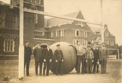 Push Ball Fight, Prefight, 1908