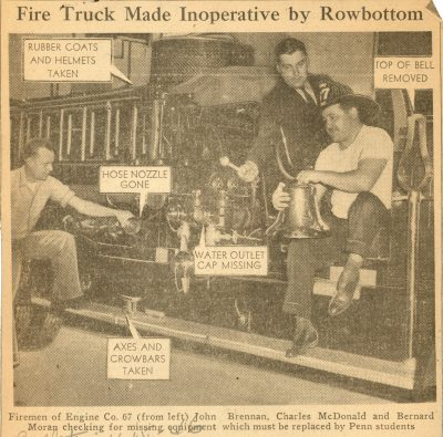 Rowbottom, firefighters, 1946