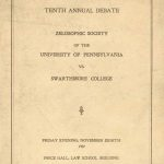 Zelosophic Society Debate vs. Swarthmore College, 1907