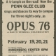 Glee Club's 1975-1976 production, Opus 76, advertisement