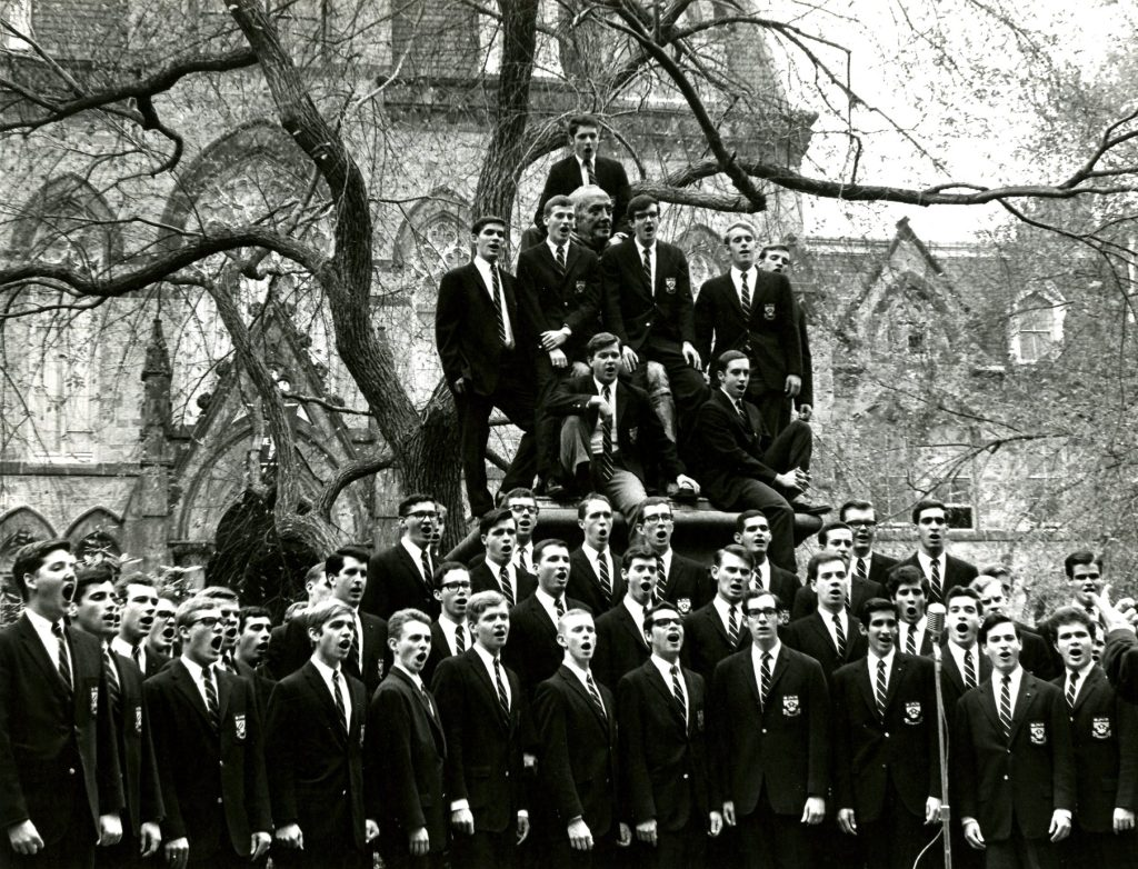 Glee Club in front of College Hall, President's Day 1966