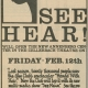 Glee Club's 1970-1971 production, See Hear!, advertisement