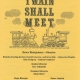 Glee Club's 1998-1999 production, The Twain Shall Meet, program cover