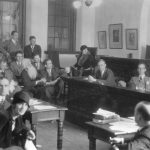 Moot court proceedings at the Law School, c. 1926