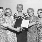 School of Social Work faculty after presentation of special citation to Dr. Jessie Taft, 1959