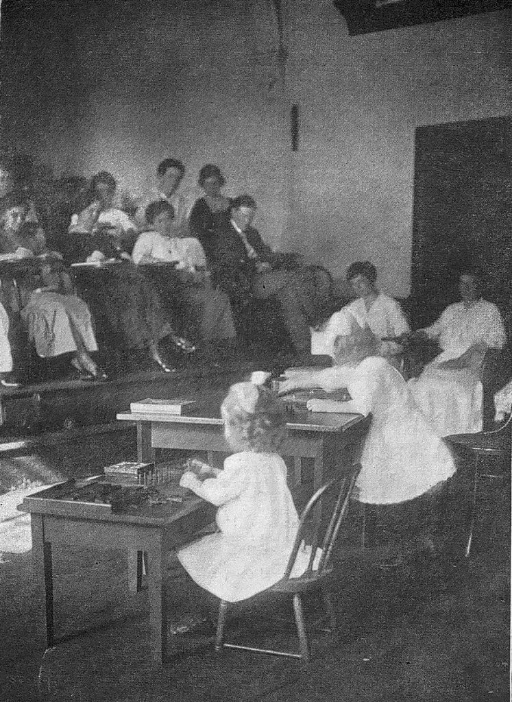 Summer School, Montessori, 1915