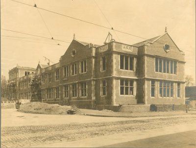 Veterinary School, construction, 1907