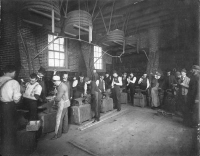Veterinary School, blacksmith shop, 1900