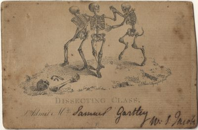 Admission ticket, William Stephen Jacobs 's lecture on Anatomy, c. 1800