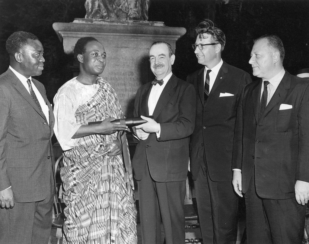 Kwame Nkrumah receiving a University Citation, July 1958