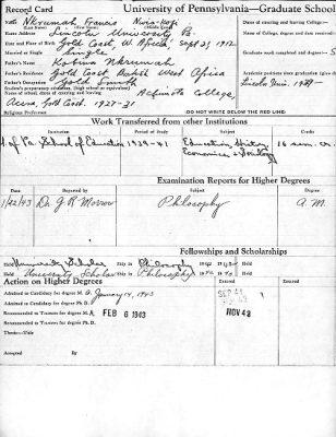 Kwame Nkrumah's transcript, 1943