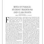 Rites of Passage: Student Traditions and Class Fights