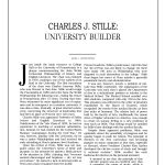 Charles J. Stille, University Builder, A Pennsylvania Album