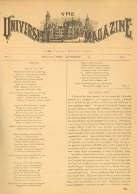 University Magazine Cover, 1875