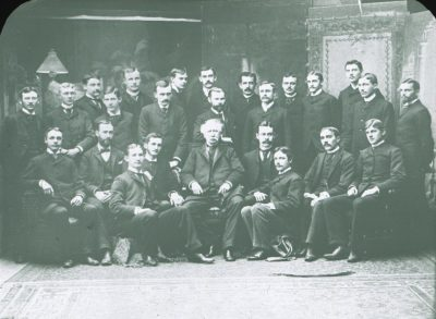 D. Hayes Agnew Society, 1888 members with Dr. Agnew seated in the center