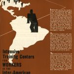 """Intensive Training Center for Workers in the Inter-American Field,"" front cover of a brochure, 1942"