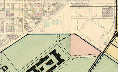 West Philadelphia campus map, 1878