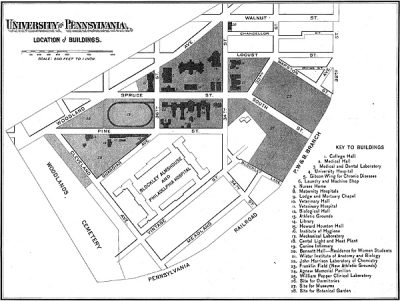 Campus map, from University Catalogue, 1894