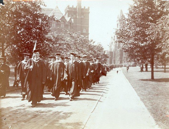 Commencement procession, 1901